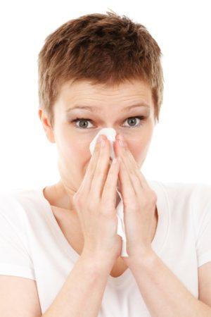 flu season woman