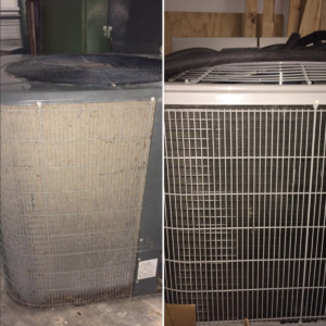 Difference between a clean condensing unit and a dirty one.